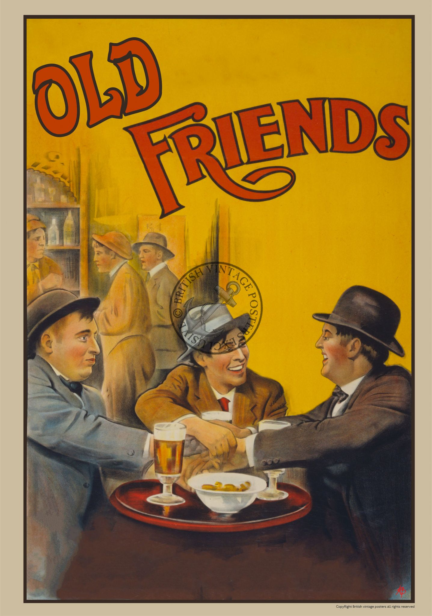 old friends beer advert poster